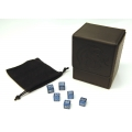 BCW Deck Case, Black + TCE CNC Machined Alum. Dice Combo (Water Blue dice)