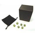 BCW Deck Case, Black + TCE CNC Machined Alum. Dice Combo (Grass Green dice)