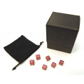 BCW Deck Case, Black + TCE CNC Machined Alum. Dice Combo (Fire Red dice)