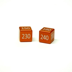 CNC Machined Aluminum Mega/GX Damage Counters  Set (2 pcs) Fighting Orange Anodized